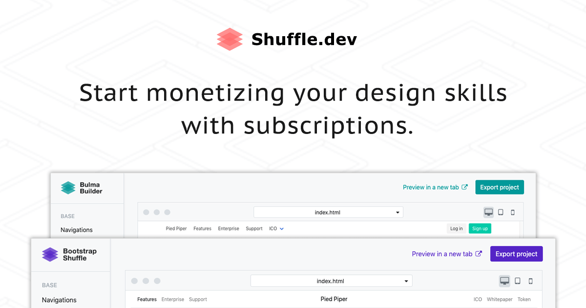 Bootstrap Shuffle - Builder for busy Bootstrap developers